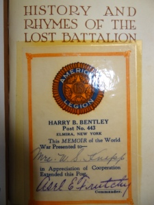 History and Rhymes of the Lost Battalion: Reference 973.91 M129.